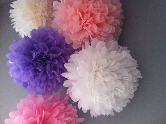 135 best party pom poms images on pinterest paper pom poms tissue paper pom pomst of 9birthday decorationspaper flowers solutioingenieria Images