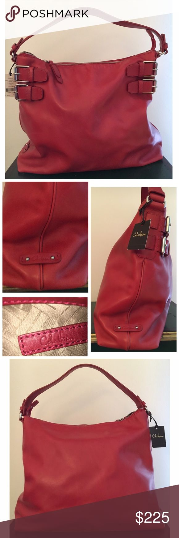 SALE! Brand New! Cole Haan Avery Large Hobo Cole Haan Avery Large Hobo - Lantern Red Inside: zipper pocket and two open pockets Cole Haan Bags Hobos