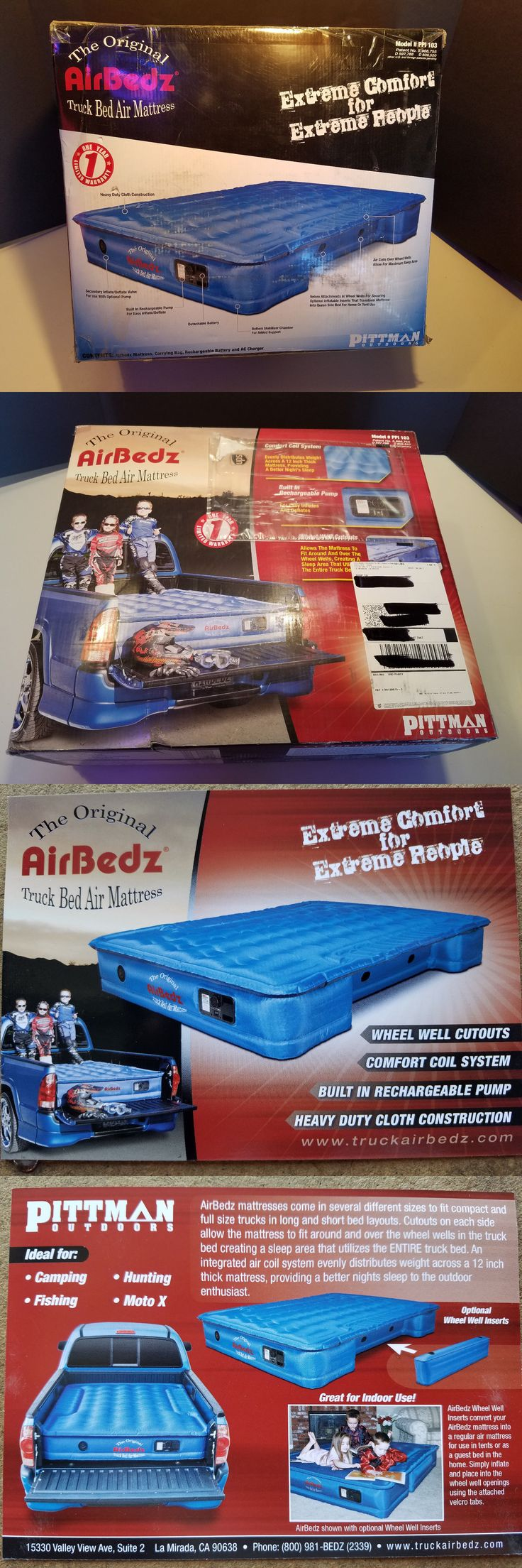 Mattresses and Pads 36114: New In Box Airbedz Inflatable Truck Bed Camping Air Mattress Model Ppi 103 -> BUY IT NOW ONLY: $80 on eBay!