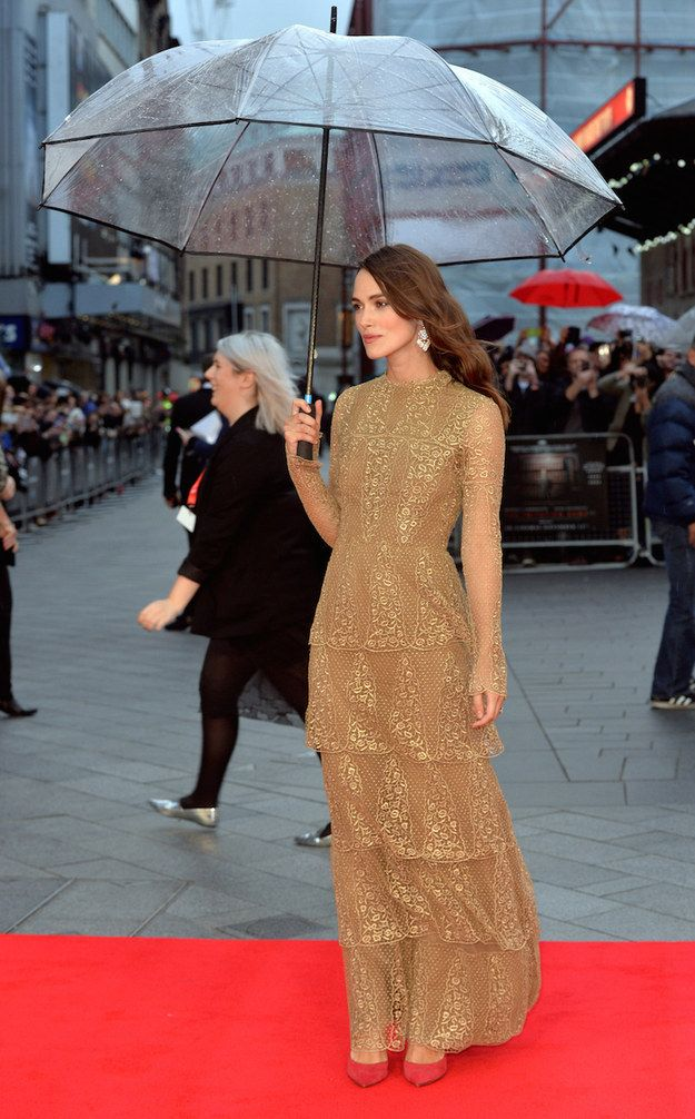 """Don't you just love the rain?"" 