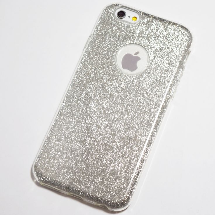 Silver Glitter Bling iPhone 6 Plus / 6S Plus Thick Case