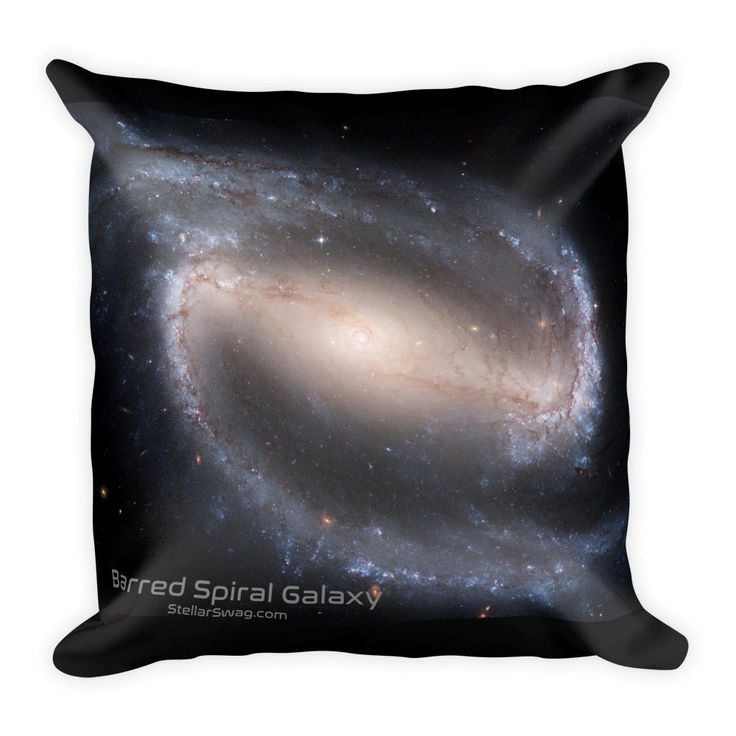 Barred Spiral / Pinwheel Galaxy Double-sided Square Pillow