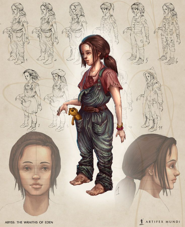 It is very hard to choose appropriate clothing for a girl, especially when it's her only set of clothes in a deserted underwater city. Still, she looks good in dungarees. #artifexmundi #fashion #character #adventure  www.artifexmundi.com/page/abyss/ www.facebook.com/ArtifexMundi.Abyss