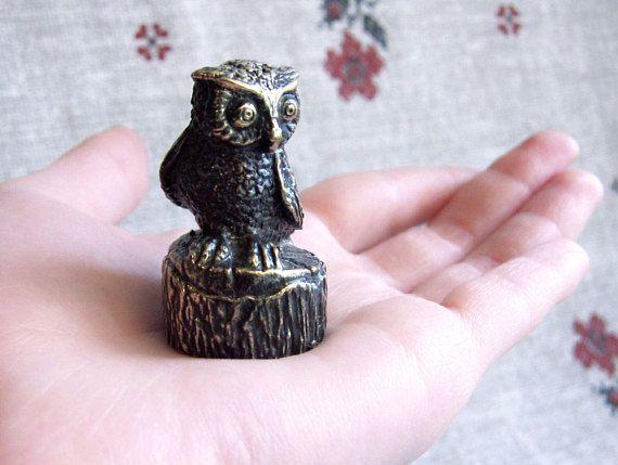 Owl figurine, owl statuette, owl souvenir, bird statuette, antique bronze figurine gift, collectible owl figurine, owl gift, bird statuette