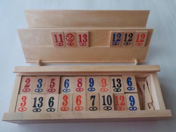 Nieuwe complete houten handgemaakte rummy rummikub spel kinderen reizen spelstrategie familie spel bordspel in vak cadeau voor mannen kinderen kind