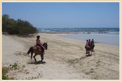Horseback riding in the Guanacaste province.