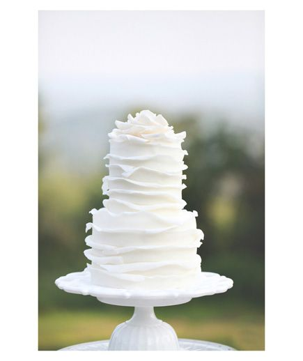 Think a white wedding cake sounds boring  Not so fast 305 best Wedding Ideas images on Pinterest   Real simple  Vermont  . Real Simple Wedding Cakes. Home Design Ideas
