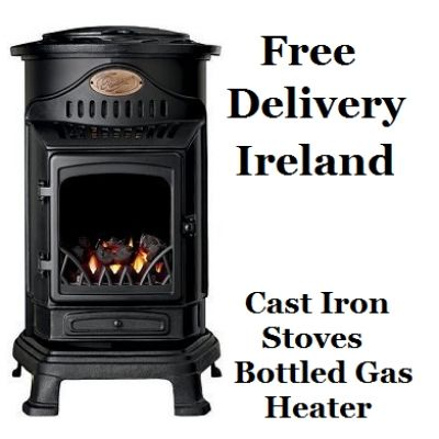 Flueless Gas Stove Gas Fire Bottled Gas Cast Iron Bottle Gas Heater.