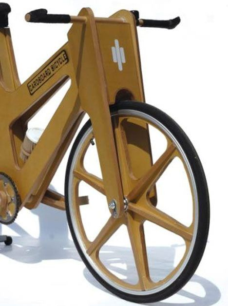 """WebUrbanist.com: """"This bicycle is waterproof, lightweight and only costs USD30.00. It's also fully recyclable, thanks to its almost 100% cardboard construction. Product design student Phil Bridge created it as a low-cost, eco-friendly option that can be easily mass produced. It's not the nicest-looking bicycle ever, and it's not exactly a performance bicycle either. At least you won't have to worry about anyone stealing it."""""""