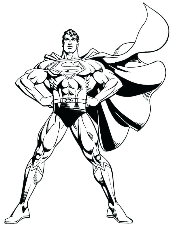 Printable Superman In 2020 Superman Coloring Pages Superhero Coloring Cartoon Coloring Pages
