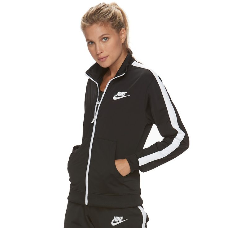 Women's Nike Track Jacket, Size: Medium, Grey (Charcoal)
