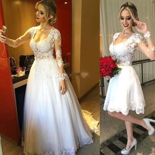 I found some amazing stuff, open it to learn more! Don't wait:https://m.dhgate.com/product/short-two-pieces-long-sleeve-wedding-dress/397461999.html