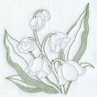 lily of the valley tattoo | ... Designs at Embroidery Library! - Lily of the Valley (Vintage