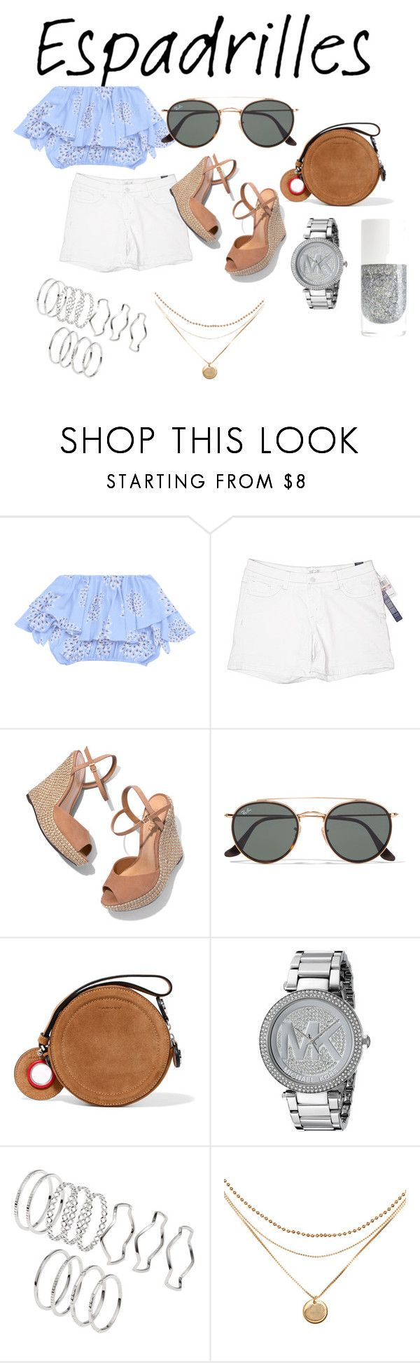 """""""The Shoes We Never Wear With Shorts"""" by mandalinaqitrydewi on Polyvore featuring Seven7 Jeans, Schutz, Ray-Ban, Carven and Michael Kors"""