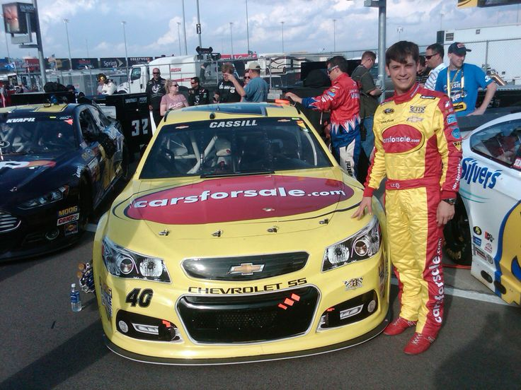 Landon Cassill with the No. 40 Carsforsale.com Car #NASCAR