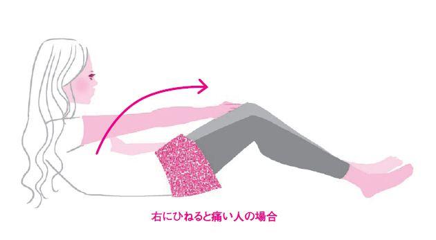「いつも片側だけ腰が痛い」とか、「ぐいっとひねると腰にずーんと響く」といった慢性腰痛には、体の「左右差」が関わっています。腰骨の高さが違う、横座りが片方だけうまくできない……。思いあたるあなたは、今回の体操がしっかり効くタイプ! 左右差に…[5ページ目]