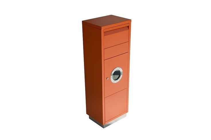 #letterman #standingovation #radius #design #orange #standbriefkasten #briefkasten #paketbriefkasten #bullauge