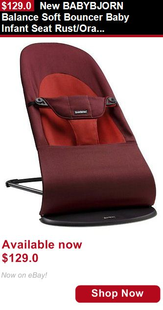 Baby bouncers and vibrating chairs: New Babybjorn Balance Soft Bouncer Baby Infant Seat Rust/Orange BUY IT NOW ONLY: $129.0