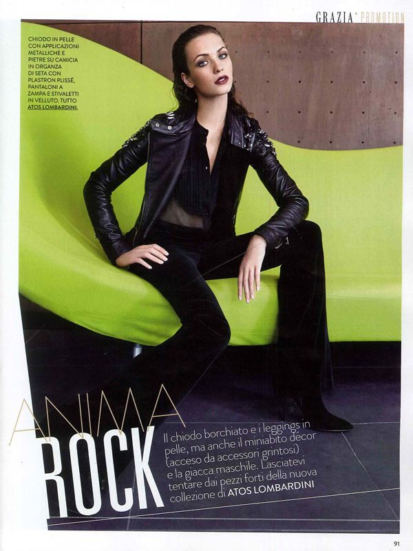 GRAZIA Italia - October issue n.40-2013 _ Pag. 91: (promotional shooting) Total look by Atos Lombardini. #FW201314 #outfit #fashion