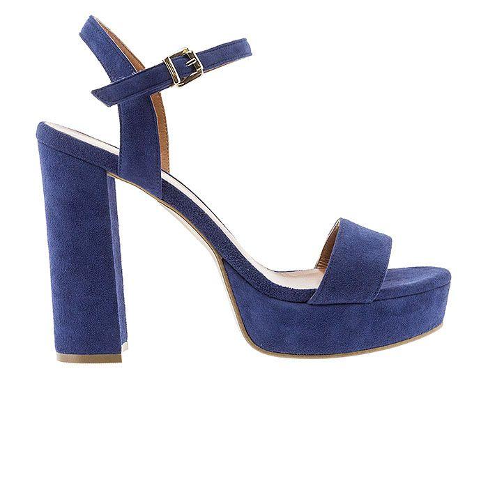 850F12-BLUE SUEDE www.mourtzi.com #sandals #heels #mourtzi #greekdesigners #suede