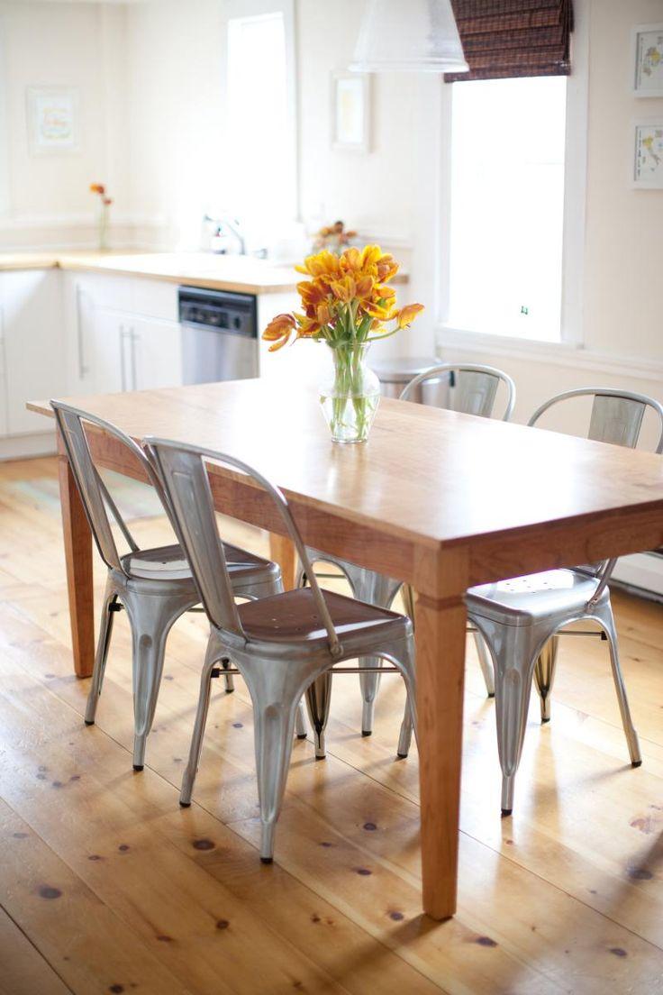 Farm table and knotty floor