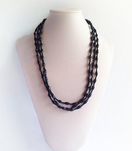 Zahra - Afri Beads Black Paper | Indigo Heart - Fair Trade Fashion A$29.95