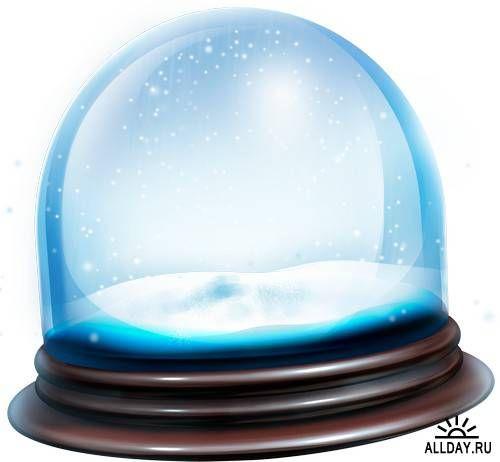 рождественский шар со снегом вектор - Поиск в Google