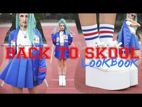 BACK TO sKOOL || LOOKBOOK by VINTAGEENA - YouTube