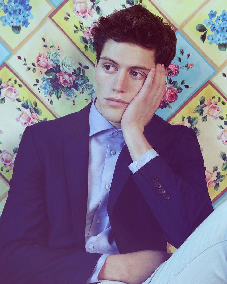 Joseph Gerard, Joseph Gerard Photography, Edward Harrington, Edward Harrington model, Fusion Models NY, Ohlsson Model Management, Brandis Ohlsson, magazine, handsome, cheek bones, male model, male model poses, #editorial #model #malemodel