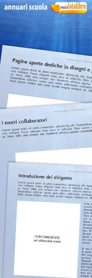 Modello Sea - Annuari per la Scuola - un servizio nuovo di miofotolibro.it per tutte le scuole italiane - un operatore impaginerà per la vostra scuola l'annuario