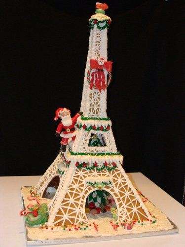 Gingebread Eiffel Tower made by the Pink Box Bakery.
