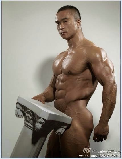 Chinese muscle bear gay sex blonde muscle 10