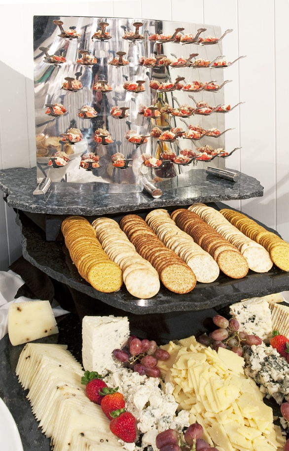 Crackers and cheese at Weber's—made elegant. A perfect hors d'oeuvre to hold guests over until dinner. Who could resist?