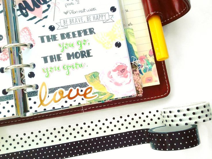 "Rita Juq (@ritajuq)  Instagram: ""#planningwithjuq ♠💓💛 *Week of Nov 6th 💛💓♠ #weeklyspread #plannercloseup ""The deeper you go, the…"""