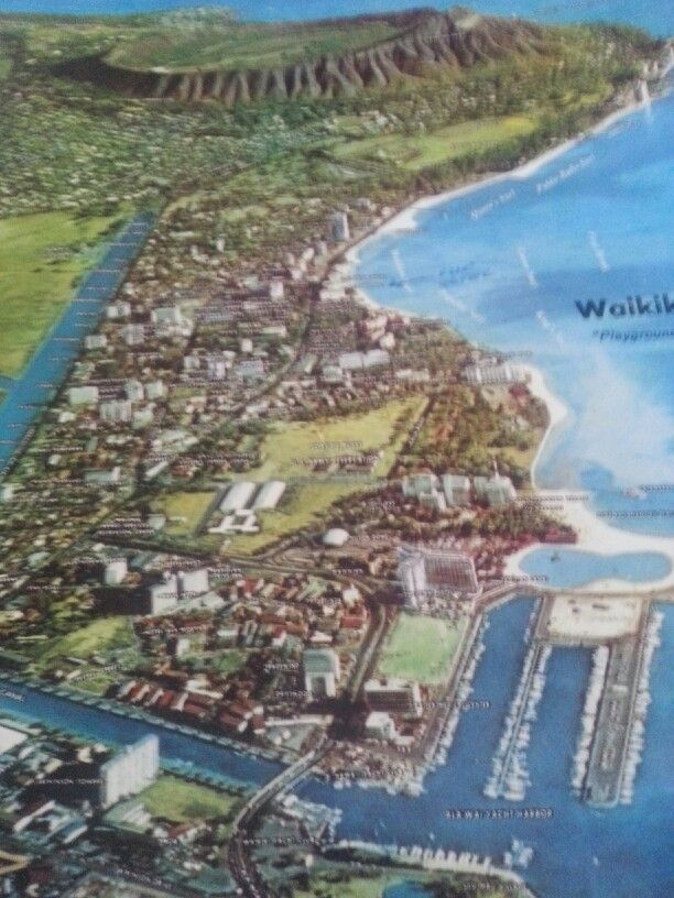 Waikiki in the 1960's and in the bottom left you will see Ala Moana mall just getting started