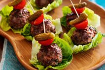 These bite-sized burgers are packed with flavor and make a cute intro to any meal.