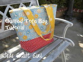 Jedi Craft Girl: Quilted Tote Bag Tutorial