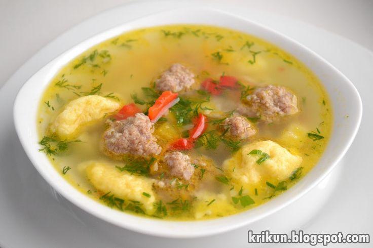 Суп с фрикадельками и богатого