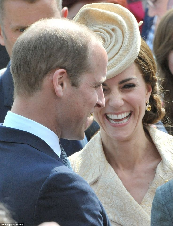 The couple were seen getting along famously as William appeared to have Kate in stitches d...