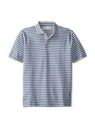 56% OFF Pringle of Scotland Men's Striped Polo (Blue)