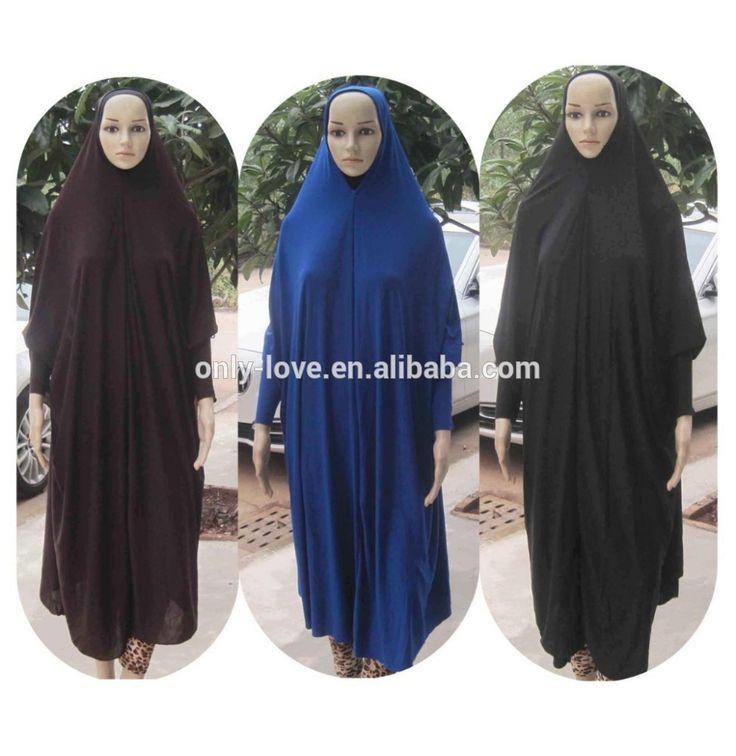 New Style Women Kaftan Muslim Maxi Lycra Maxi Dress prayer clothing Islamic hijab abaya QK017