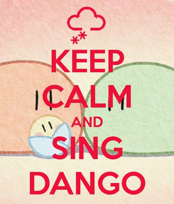 Dango, dango, dango, dango, dango daikazoku. Yancha na yaki dango. Yasashii an dango. Minna, minna, awasete, hyakunin kazoku. Aka-chan dango wa itsumo shiawase no naka de. Toshiyori dango wa me o hosometeru. Nakayoshi dango te o tsunagi ooki na marui wa ni naru yo ~