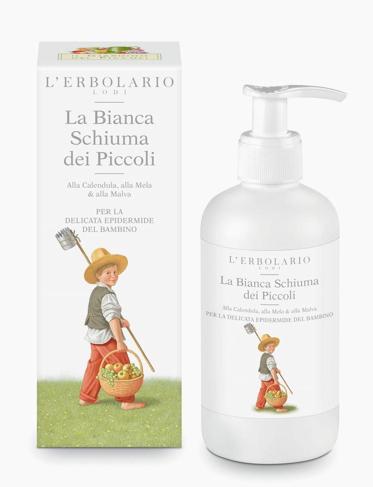 La Bianca Schiuma dei Piccoli Alla Calendula, alla Mela & alla Malva http://www.erbolario.com/prodotti/655_il_giardino_dei_piccoli_2014_la_bianca_schiuma_dei_piccoli