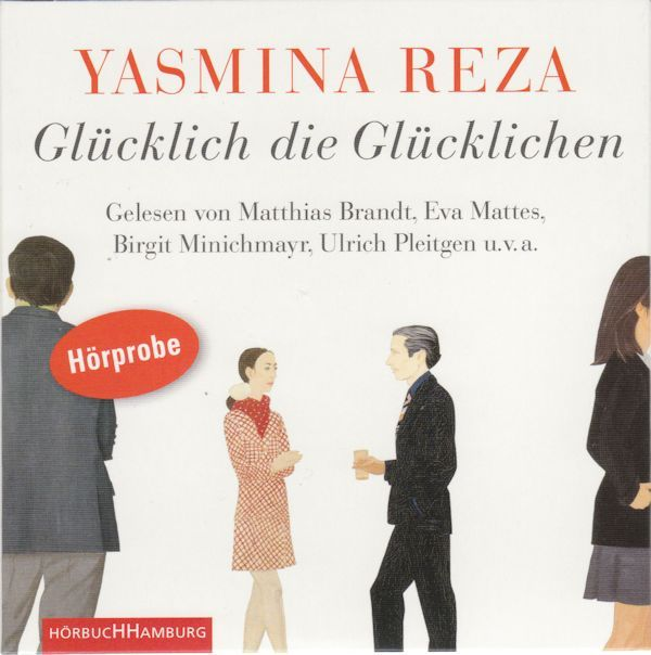 """2013 Yasmina Reza - Glücklich Die Glücklichen [Hörbuch Hamburg] original artwork: Alex Katz """"Jack and D.D. Ryan"""" (1968) #albumcover"""