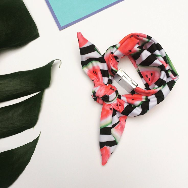 A personal favorite from my Etsy shop https://www.etsy.com/listing/513814620/summer-scarf-scarf-bracelet-watermelon