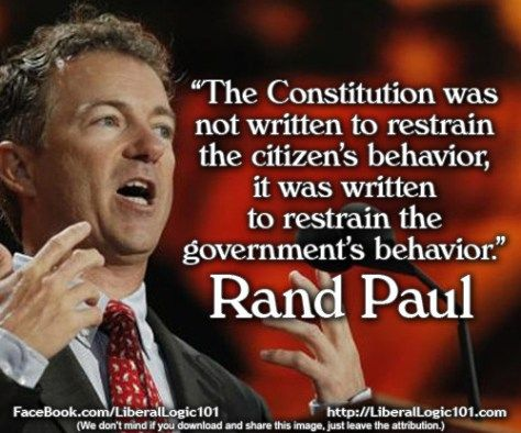 I have heard him - in person, with my own ears - say this. Go Rand!
