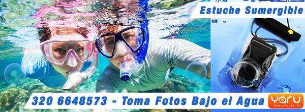 Estuche Sumergible, Funda Acuatica Impermeable, Tomar fotos bajo el agua
