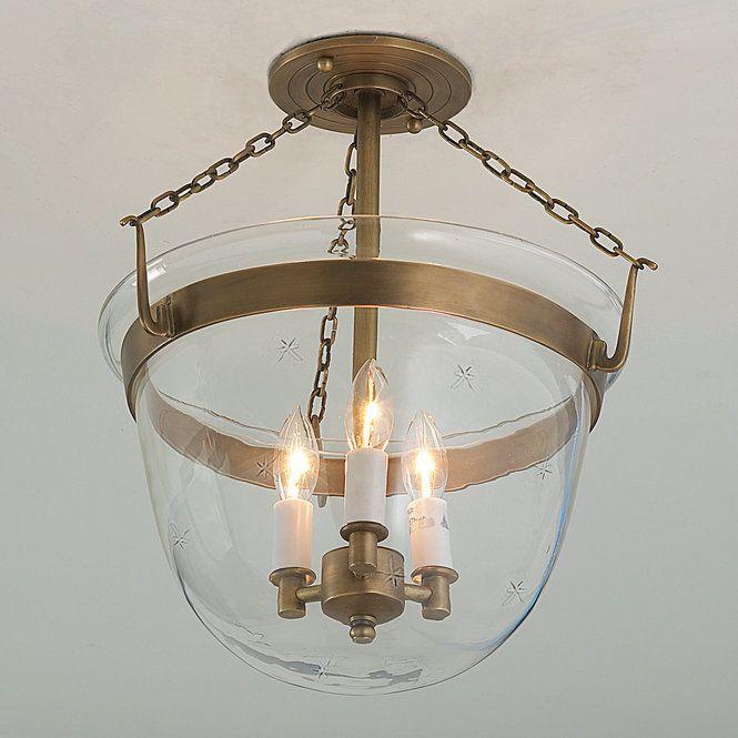 Star Smokebell Semi-Flush Ceiling Lantern - Shades of Light