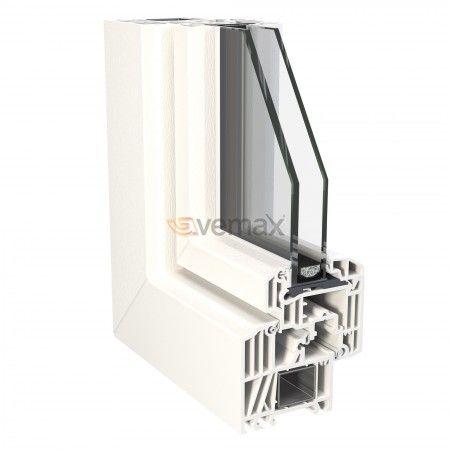 PVC Hoja Estandar Hoja Estandar Apariencia lineal perfecta  Las puertas y ventanas en PVC, con perfil de hoja estándar tiene una apariencia lineal que permiten una integración perfecta para nueva construcción o reformas, y la mejor protección térmica y acústica