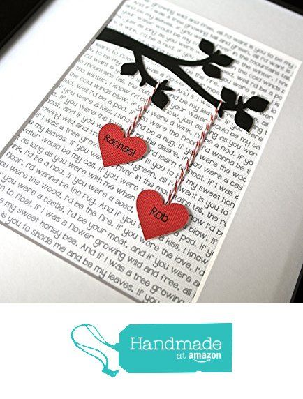 DIY - Use lyrics to a favorite song, love song, etc...silhouette of a tree branch, string with a heart and frame it.